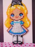 Perler Alice in wonderland by KawaiiDeathy