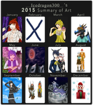 2015 Summary of Art by Icedragon300