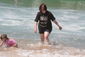 Me at the beach lol by PhantomusAnalusica