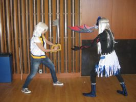 Riku Vs. HT Replica Riku by SunSet-IceCream