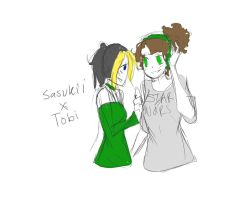 Tobi X Sasukii by Chibi-Works