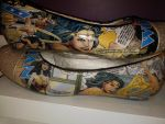 Comic book shoes by ChesireShop