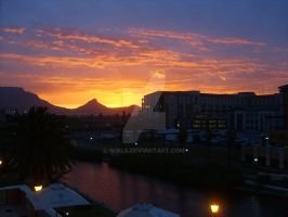 Beautiful Cape Town Sunset by Wirls