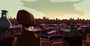 Amelie and the Rooftops by Ceydran