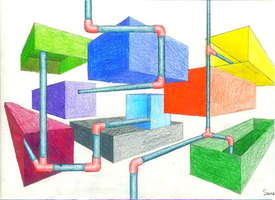 Perspective Boxes and Pipes by SamiJae