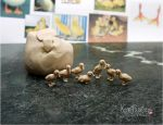 WIP - Miniature Duckling sculptures by Pajutee