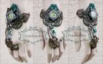 Art nouveau one of a kind cuff by Pinkabsinthe