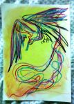 Oil Pastels: Bird by kxeron