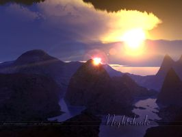Terragen - Nightshade Three by tigaer