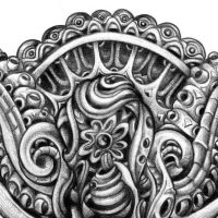 Detail of Mandala drawing by dehydrated1