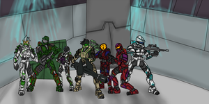 Group Photo ~ The Freelancers of Rouge Base by Grace-Winters