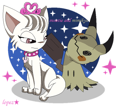 Sweetie And Mimikyu by lopez765