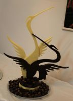 chocolate showpiece and pralines by mysweetstop