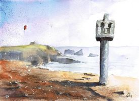 An old cross from Quiberon by sanderus