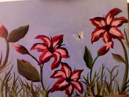 Lily Garden-Painting by Archykins
