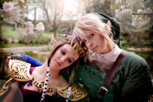 Link x Zelda - I'm the shoulder you can lean on by Eressea-sama