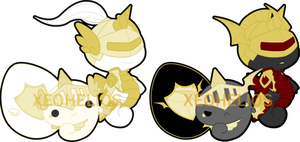 Knight Hatchling  Adoptables Sets: CLOSED by Xeohelios