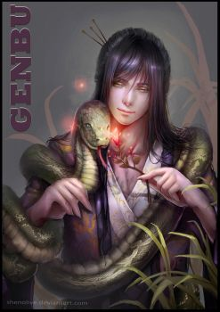 GENBU AND THE SNAKE by ShenOlive