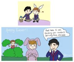 Klaine Easter Doodles by Geminico