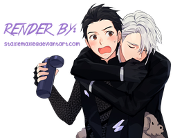 Victor x Yuri Render [Yuri!!! On Ice] by staxiemaxie
