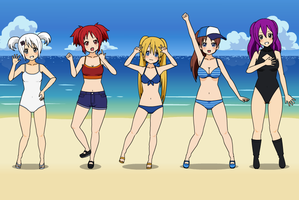 My PKMN Girls: Beach by pandalover68