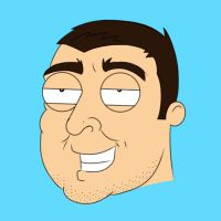 Family guy self portrait by BigEvilGorilla