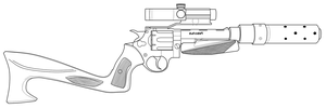 Revolver lineart by andrewbig