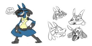 lucario.. by DrawingDogProduction