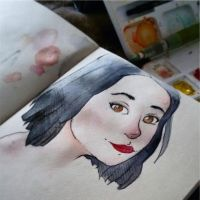 Maria, Watercolor by riiny4