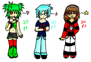 Adoptables 6, 7, 8 by Ame--Tan