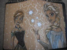 Frozen Sketchbook Cover by ccootttt