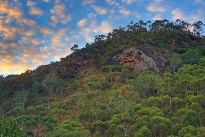 Sunrise over Morialta Valley 2 by Simon-Hunt