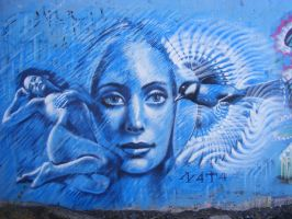blue wall by n4t4