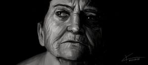 Old Lady by apfelgriebs