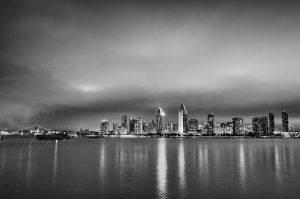 Monochrome Skyline by roarbinson