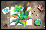 Chalk Art - St Patricks Clover by charfade