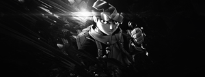 Obito Black and white by NeRoStyle
