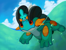 Swampert.Mudkip by clausyon