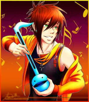 Rory and the Otamatone by hollowheartlessIzsak