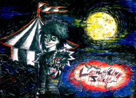 Laughing Jack, circus and beautiful night by AiratoDarkness