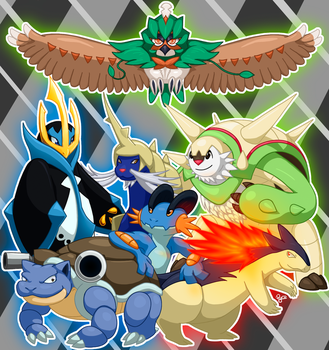 Starter Team (Commission #2) by Pyrokami