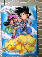 GOKU E CHICHI DBZ by powre