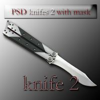 PSD knifes 2 with mask by feniksas4