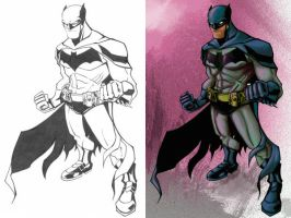 Batman Sees Pink w Lines by dnmn89