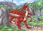 Red Forest Dragon by lady-cybercat
