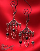 Patina Steampunk Machineworks Chandelier Earrings by ArtOfAdornment