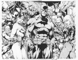 JLA #15 Pencil Ed Benes inker alisson rodrigues by Alissonart