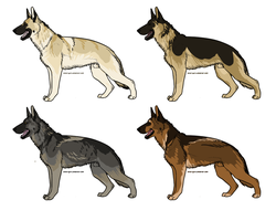 German Shepherd Dog Adoptables CLOSED by vvanderlvst