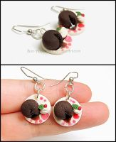 Chocolate Lava Cake Earrings by Bon-AppetEats