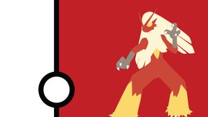 Blaziken Minimalist Wallpaper by Narflarg